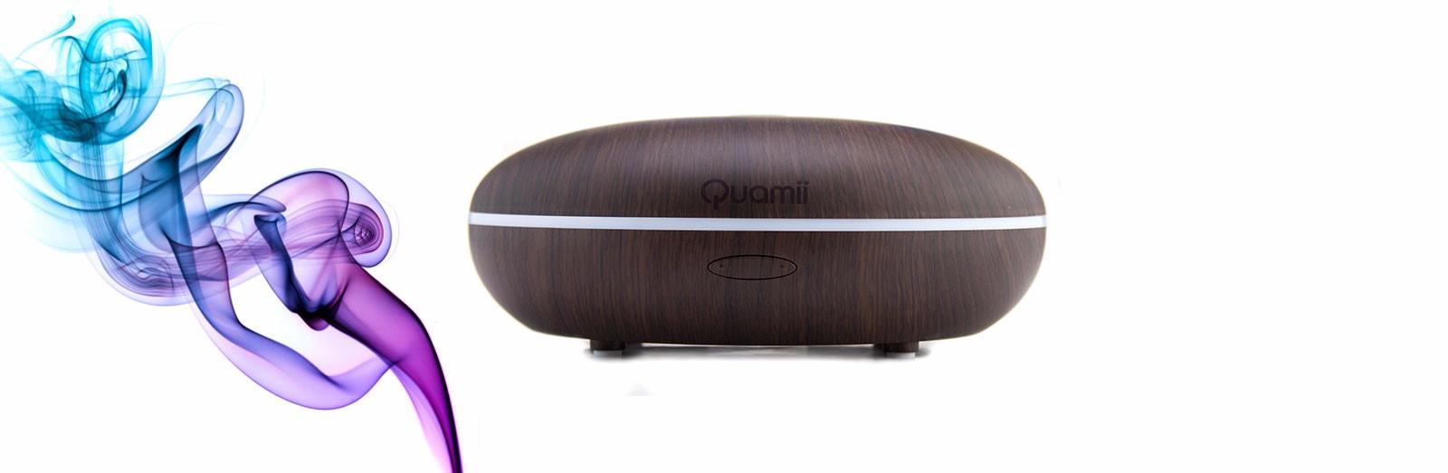 Quamii Driftwood Essential Oil Diffuser Dark woodgrain